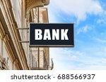 bank signboard on the street ... | Shutterstock . vector #688566937