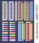 flat style multicolored website ...
