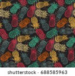 vector seamless pattern with... | Shutterstock .eps vector #688585963
