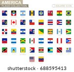 square flags of america. from... | Shutterstock .eps vector #688595413