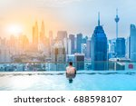 malaysia   july 30  2017  asian ... | Shutterstock . vector #688598107