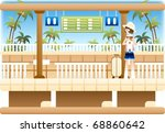 happy travel with good feeling | Shutterstock .eps vector #68860642