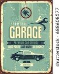 garage vintage tin sign.... | Shutterstock .eps vector #688608577