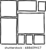 set of rectangular frames... | Shutterstock .eps vector #688609417