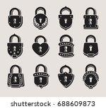 lock set. vector | Shutterstock .eps vector #688609873