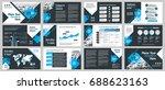 city background business... | Shutterstock .eps vector #688623163