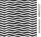 waves seamless pattern  simple... | Shutterstock .eps vector #688632127