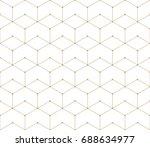 seamless geometric line grid... | Shutterstock .eps vector #688634977