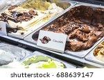 italian ice cream   artisanal... | Shutterstock . vector #688639147
