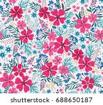amazing seamless floral pattern ... | Shutterstock .eps vector #688650187