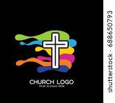church logo. christian symbols. ... | Shutterstock .eps vector #688650793