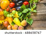 healthy vegetables and fruits | Shutterstock . vector #688658767