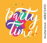 party time card. summer...   Shutterstock .eps vector #688672453