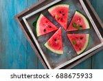 watermelon and watermelon... | Shutterstock . vector #688675933