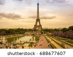 paris  france   may 07  2015 ... | Shutterstock . vector #688677607