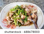 thai spicy seafood. squid fried ...
