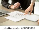 close up view of two story... | Shutterstock . vector #688688833