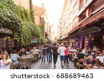 view of kadikoy popular streets ... | Shutterstock . vector #688689463