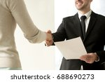 Employment Handshake  Smiling...