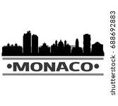 monaco skyline silhouette city... | Shutterstock .eps vector #688692883