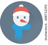 snowman vector icon  | Shutterstock .eps vector #688712293