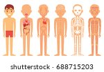 various illustration systems of ... | Shutterstock .eps vector #688715203