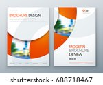 brochure template layout design.... | Shutterstock .eps vector #688718467