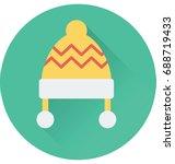 bobble hat vector icon  | Shutterstock .eps vector #688719433