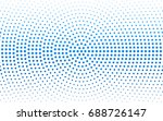 light blue vector banner set of ... | Shutterstock .eps vector #688726147