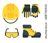 set of protective equipment... | Shutterstock .eps vector #688730443