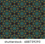 seamless vector pattern in... | Shutterstock .eps vector #688739293