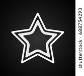 vector logo star icon. template ... | Shutterstock .eps vector #688754293