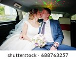 fantastic wedding couple... | Shutterstock . vector #688763257