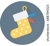 stocking vector icon  | Shutterstock .eps vector #688784323