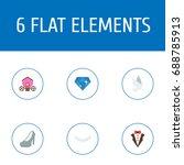 flat icons chariot  bridegroom...   Shutterstock .eps vector #688785913