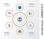 job flat icons set. collection... | Shutterstock .eps vector #688802317