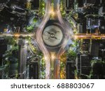 road traffic in city at... | Shutterstock . vector #688803067