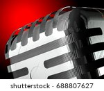 mic detail isolated. close up... | Shutterstock . vector #688807627
