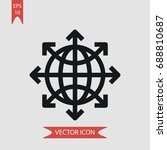 internet vector icon  simple... | Shutterstock .eps vector #688810687