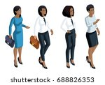 isometric icons emotion a woman ... | Shutterstock .eps vector #688826353