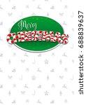 merry christmas lettering.... | Shutterstock .eps vector #688839637