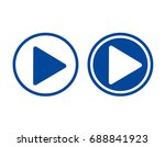 play icons.arrow sign icon.... | Shutterstock . vector #688841923