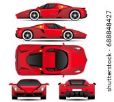 car vector template on... | Shutterstock .eps vector #688848427