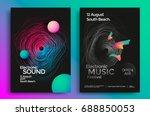 electronic music festival... | Shutterstock .eps vector #688850053