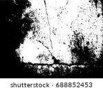 grunge texture crack in... | Shutterstock .eps vector #688852453