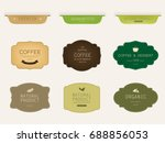 set of natural label and... | Shutterstock .eps vector #688856053