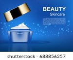 beauty cosmetic ads  opened...   Shutterstock .eps vector #688856257