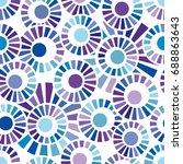 circles abstract seamless... | Shutterstock .eps vector #688863643