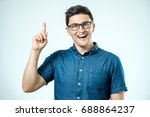 portrait of an excited happy... | Shutterstock . vector #688864237