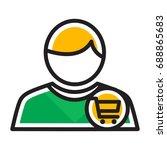 icon illustrations for buyer  ... | Shutterstock .eps vector #688865683